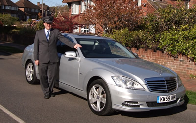 Chauffeur driven executive car in Crowborough